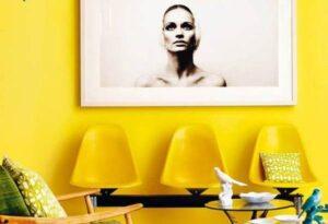 Гостиная в желтых тонах