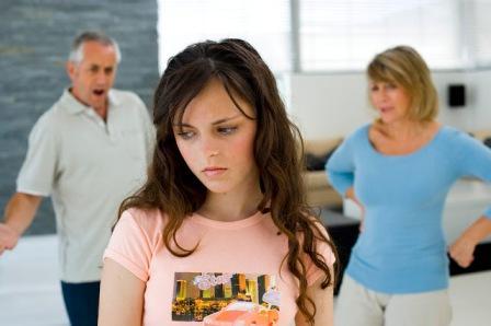 Девушка и родители